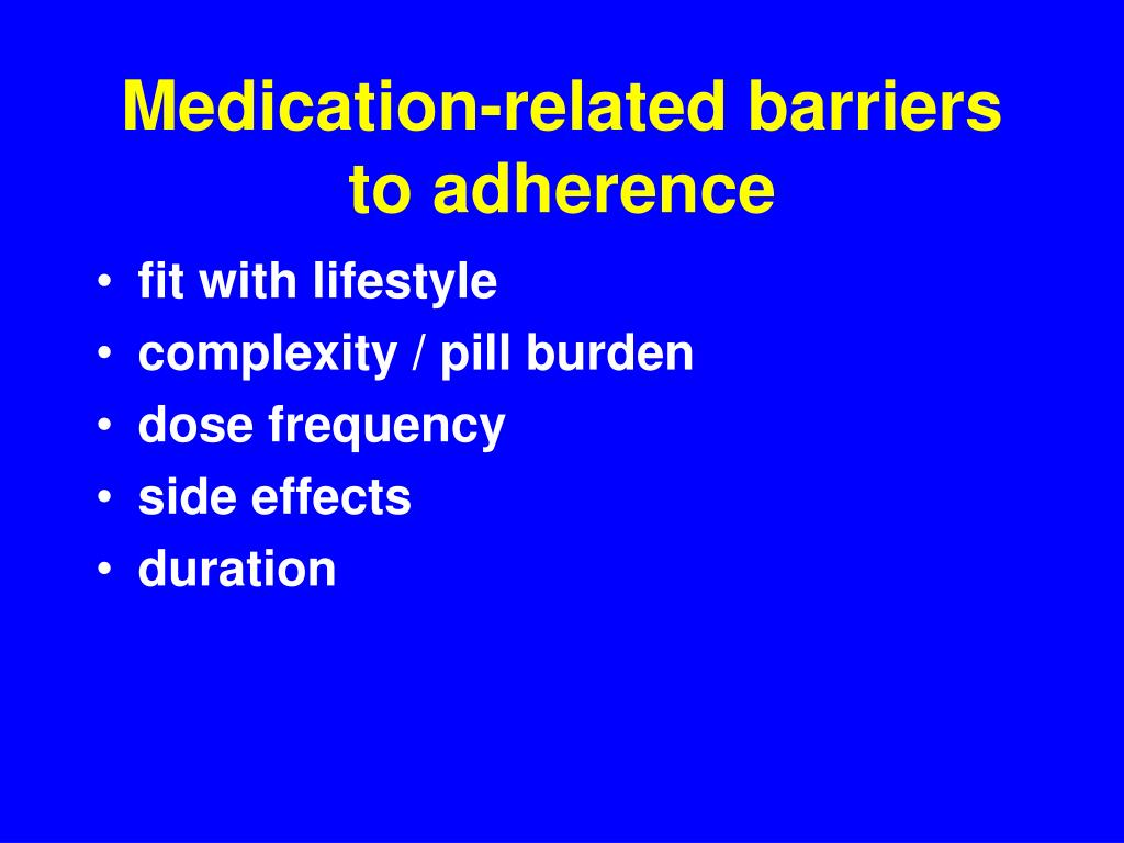 Medication-related barriers to adherence