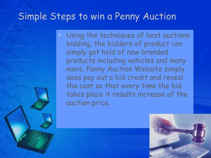 Simple steps to win a penny auction