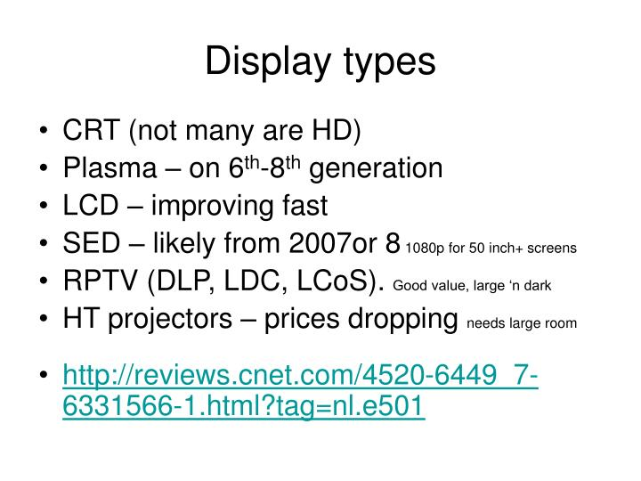 Display types
