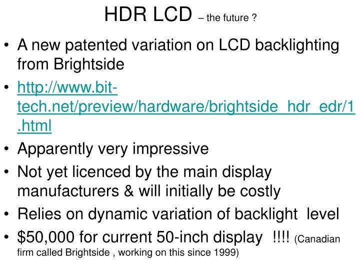 HDR LCD