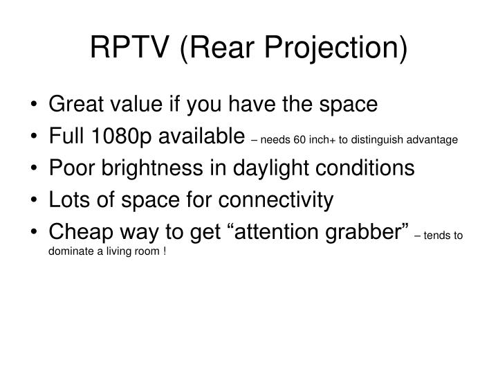 RPTV (Rear Projection)