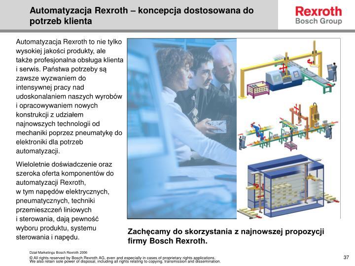 Automatyzacja Rexroth – koncepcja dostosowana do potrzeb klienta