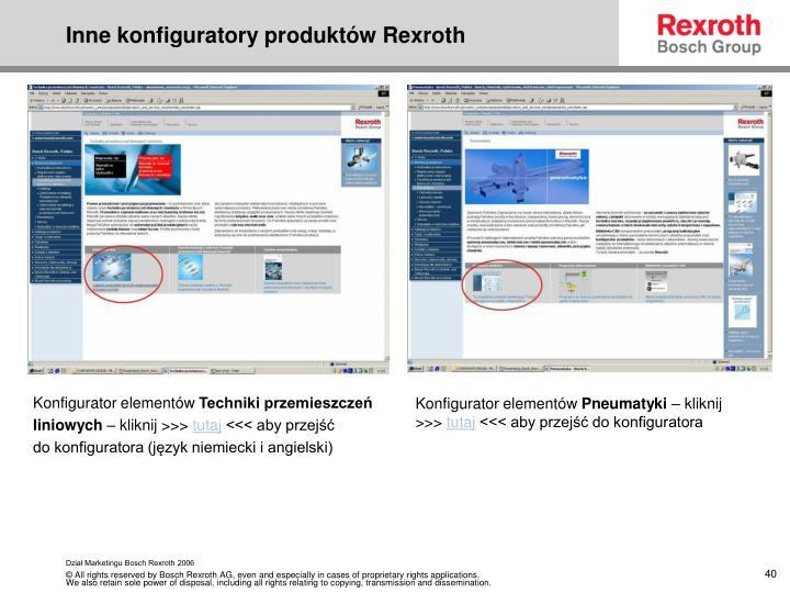 Inne konfiguratory produktów Rexroth