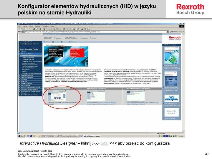 Konfigurator elementów hydraulicznych