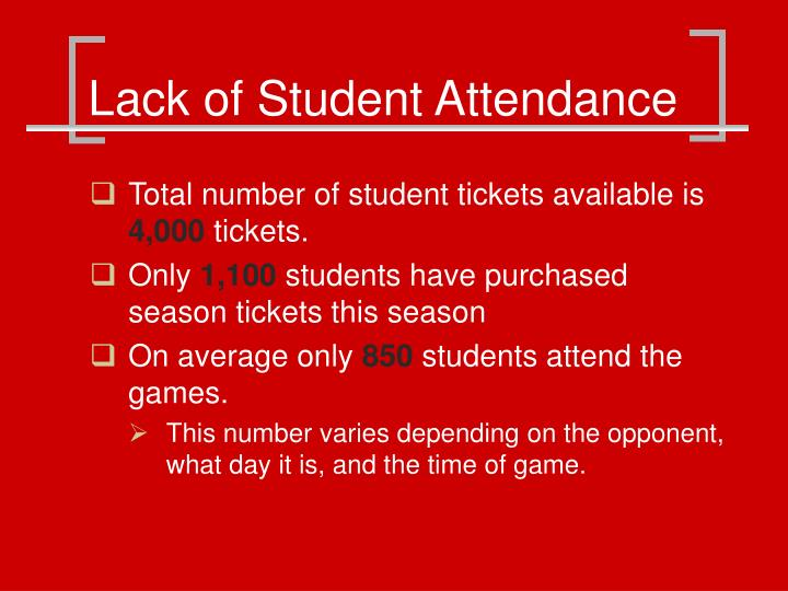 Lack of Student Attendance