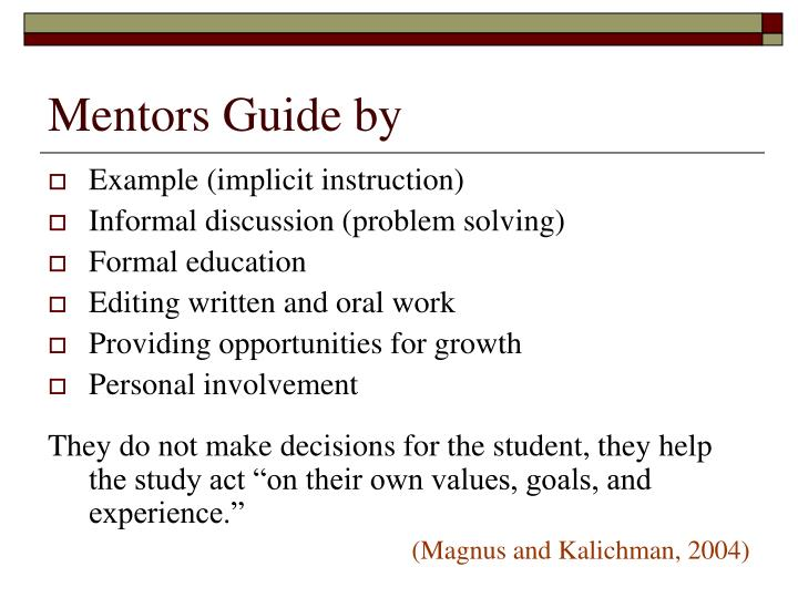 Mentors Guide by