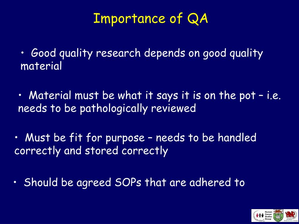 Importance of QA