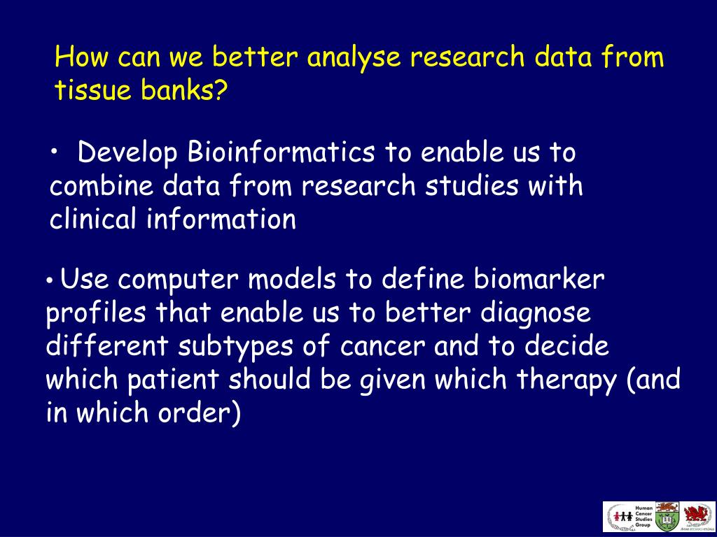 How can we better analyse research data from tissue banks?