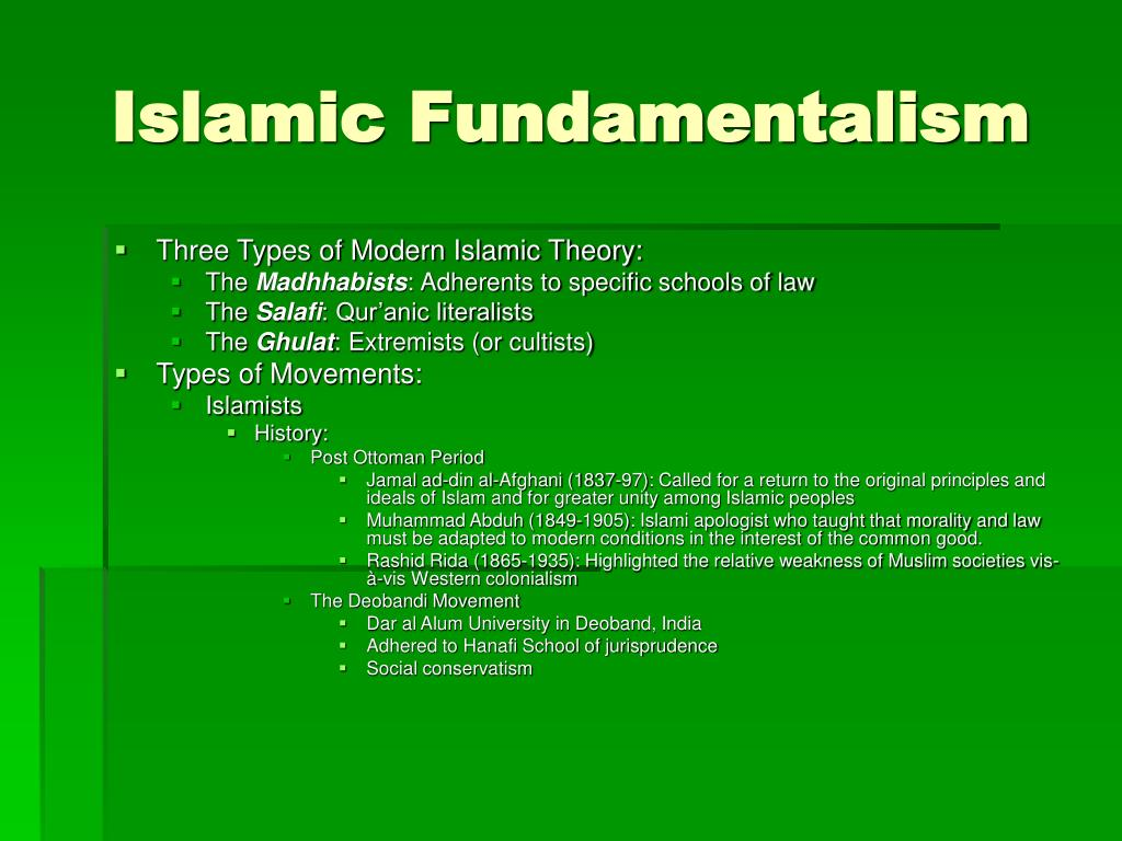 a discussion on the impact of islamic fundamentalism on the world To address rising fundamentalism and extremism across the world - be it buddhist, hindu or muslim - and its impact on women and their cultural rights, said kermani.