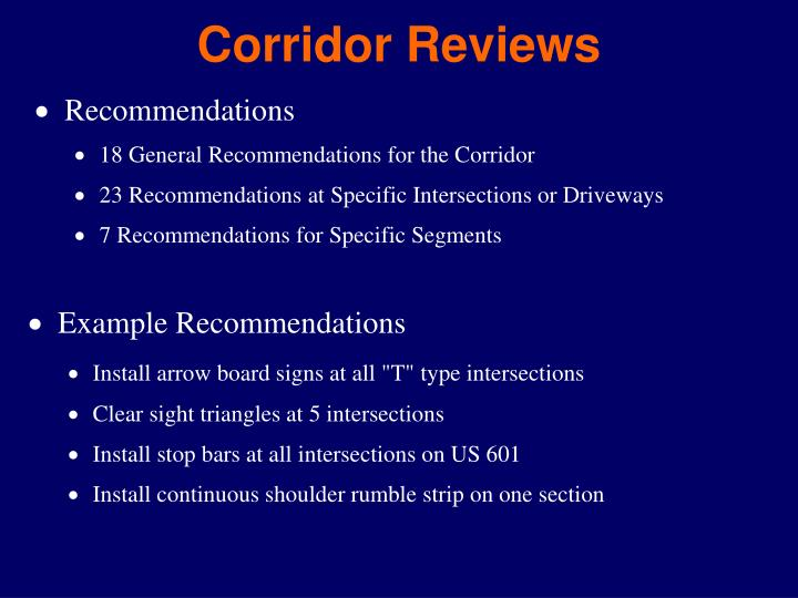 Corridor Reviews