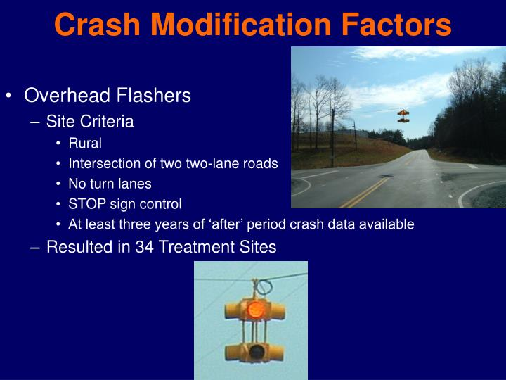 Crash Modification Factors