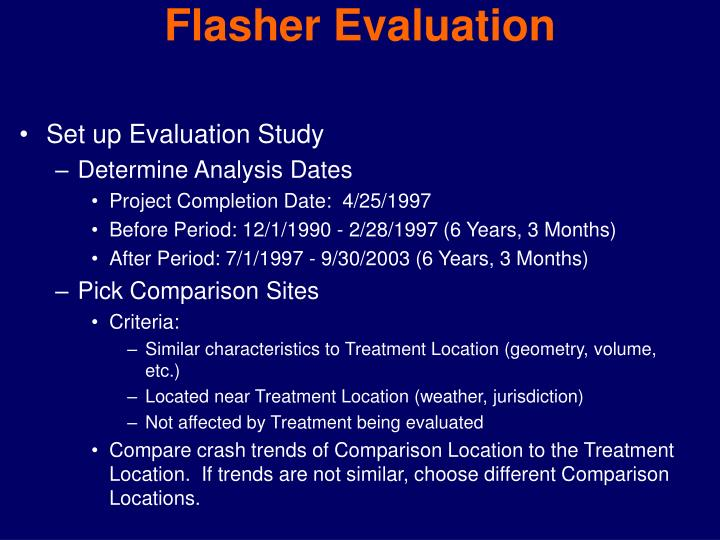 Flasher Evaluation
