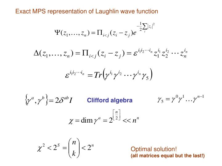 Exact MPS representation of Laughlin wave function