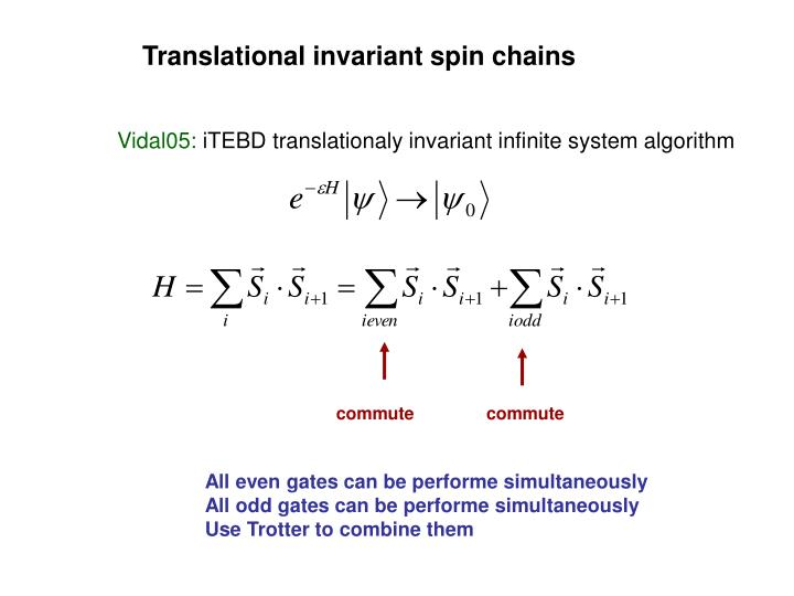 Translational invariant spin chains