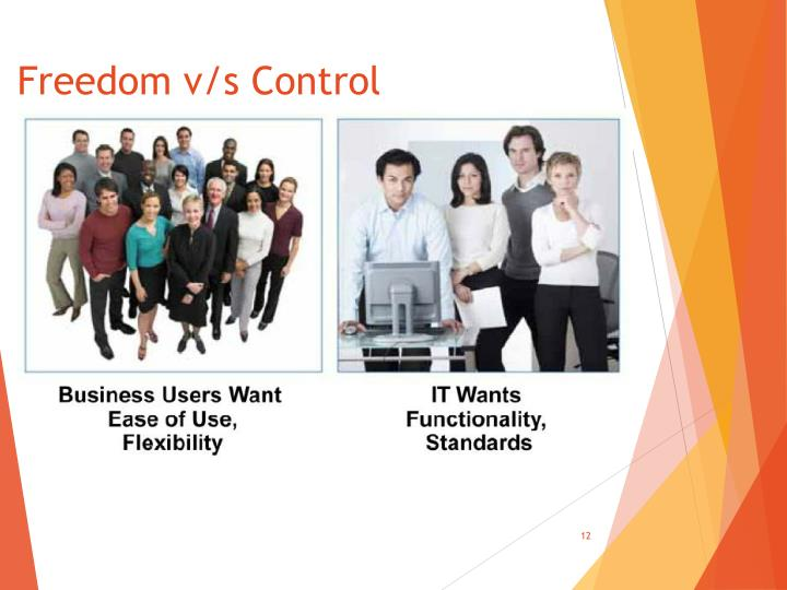Freedom v/s Control