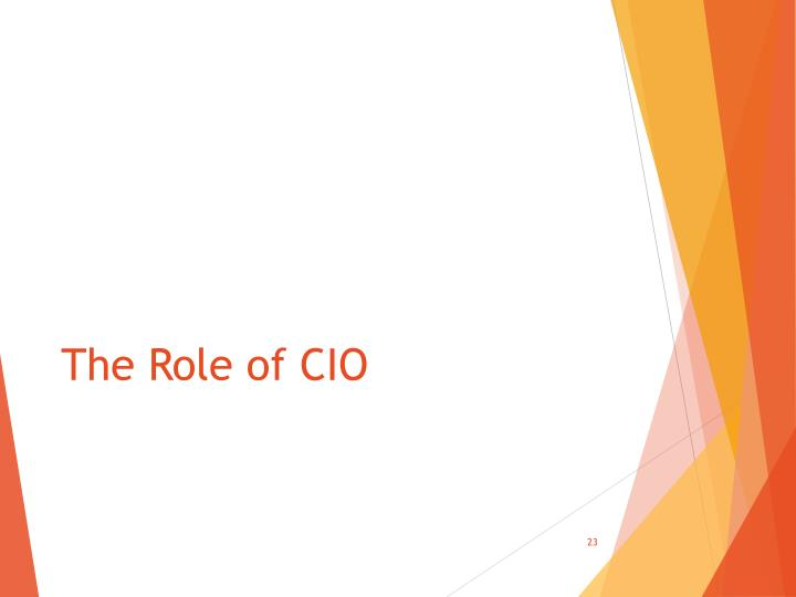The Role of CIO