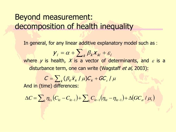 Beyond measurement: