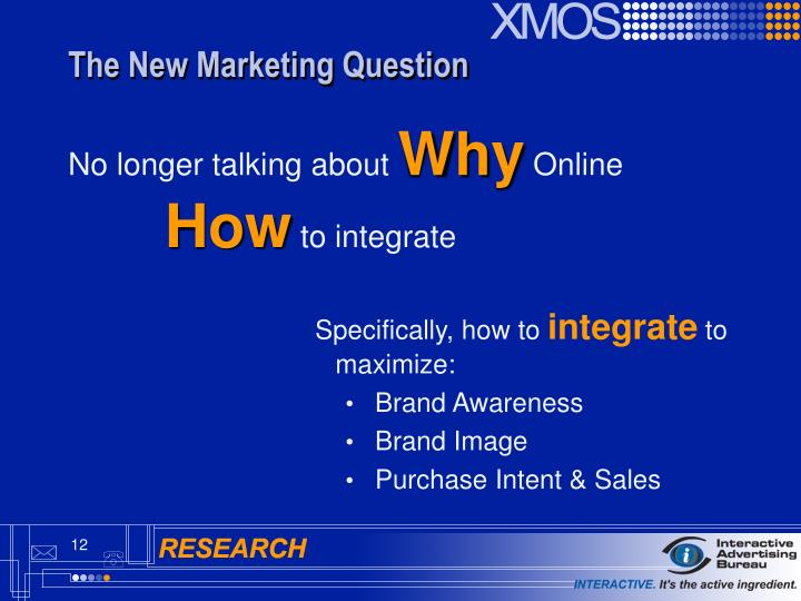 The New Marketing Question