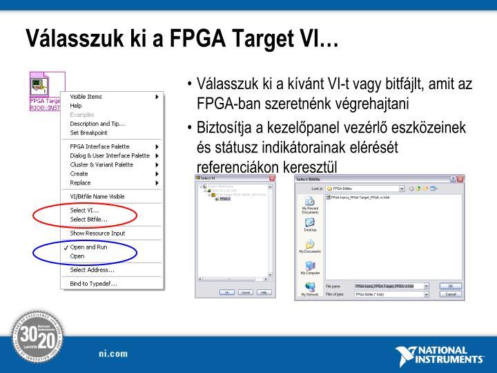 Válasszuk ki a FPGA