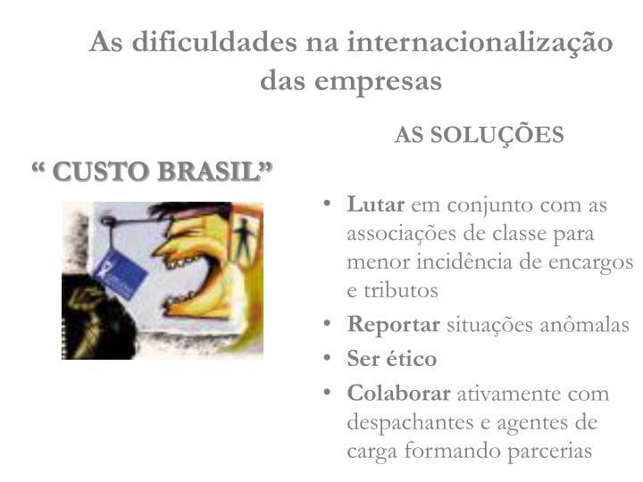 """ CUSTO BRASIL"""
