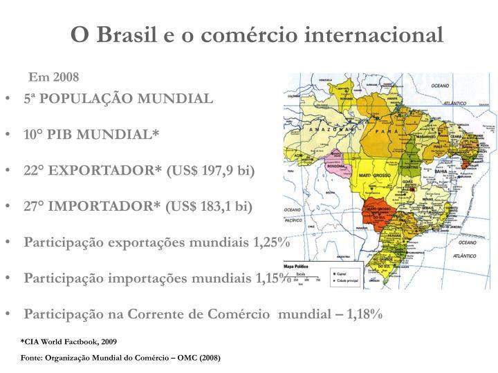 O Brasil e o comércio internacional
