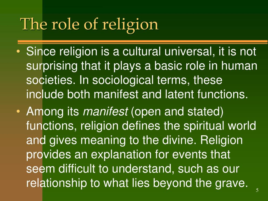 The role of religion