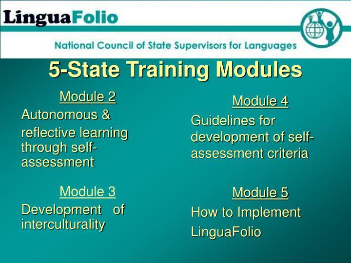 5-State Training Modules