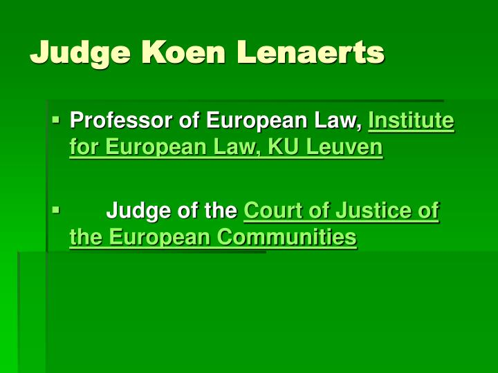 Judge Koen Lenaerts