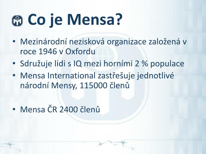Co je Mensa?