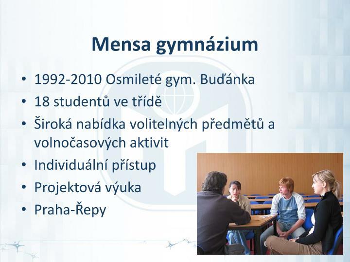 Mensa gymnázium