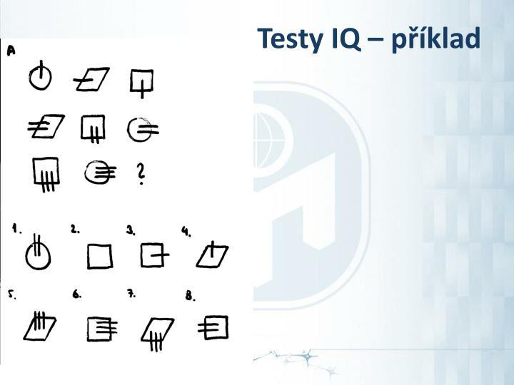 Testy IQ – příklad