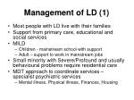 management of ld 1