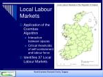 local labour markets