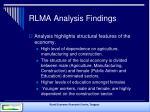 rlma analysis findings