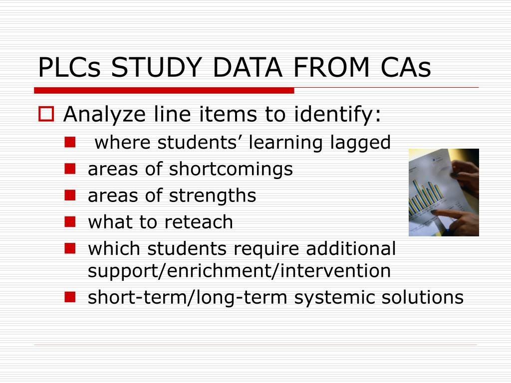 PLCs STUDY DATA FROM CAs
