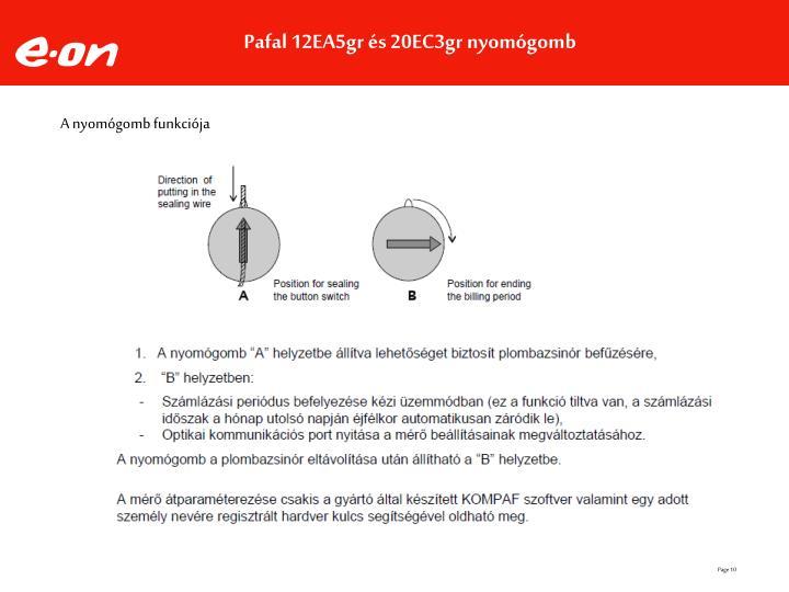 Pafal 12EA5gr és 20EC3gr nyomógomb