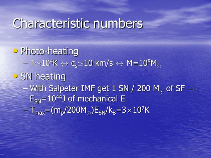 Characteristic numbers