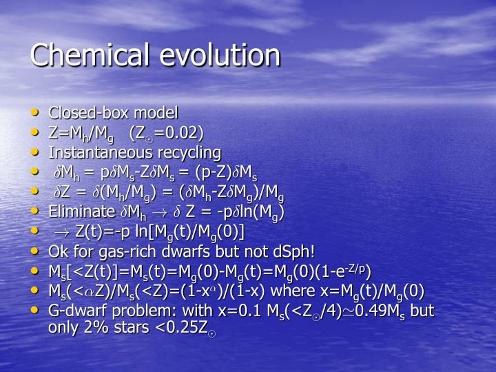 Chemical evolution