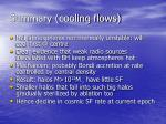 summary cooling flows