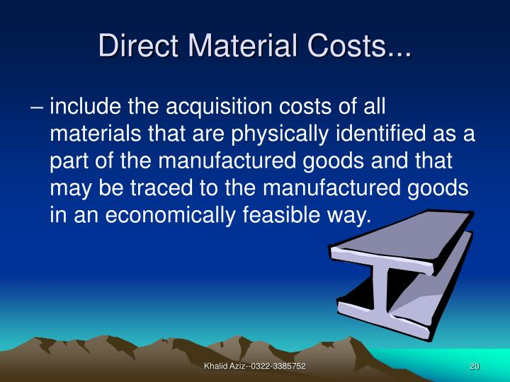 Direct Material Costs...