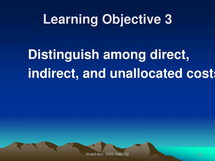 Distinguish among direct,