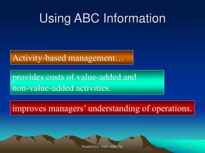 Using ABC Information