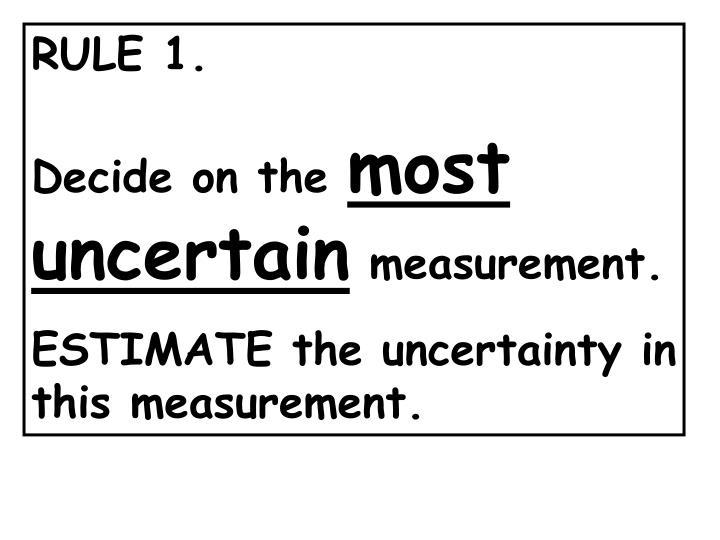 RULE 1.