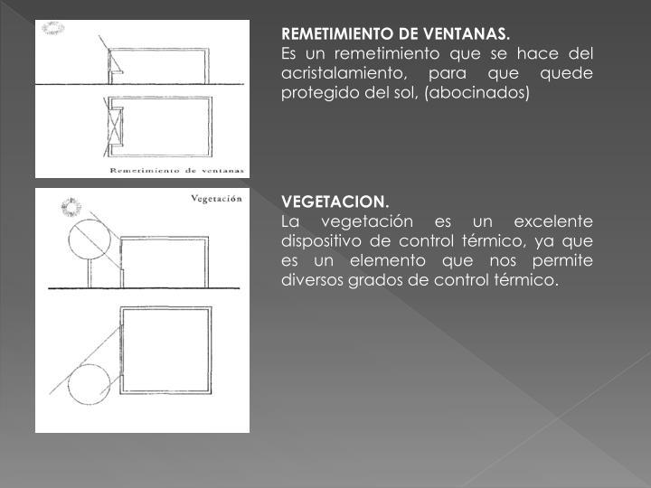 REMETIMIENTO DE VENTANAS.