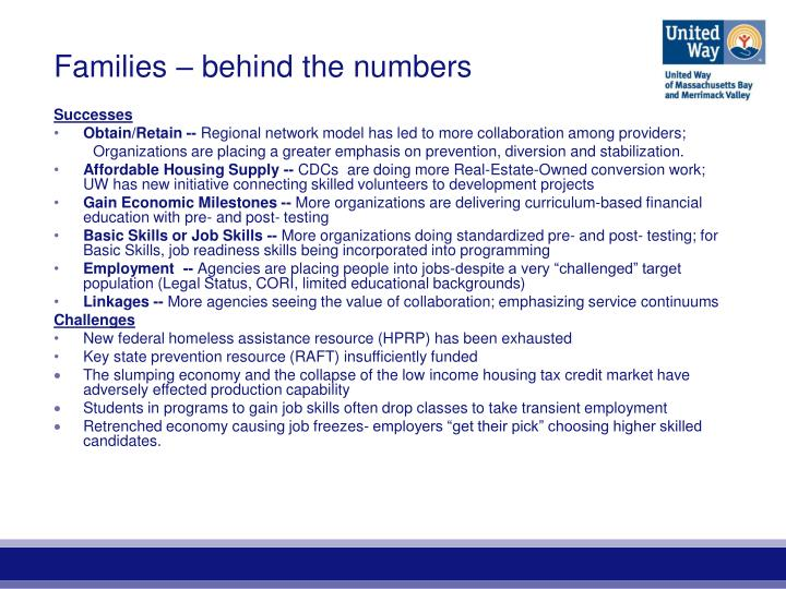 Families – behind the numbers