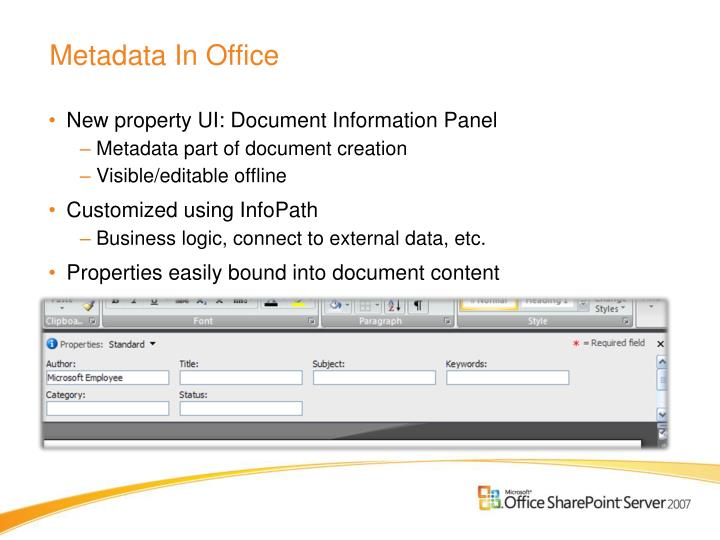Metadata In Office