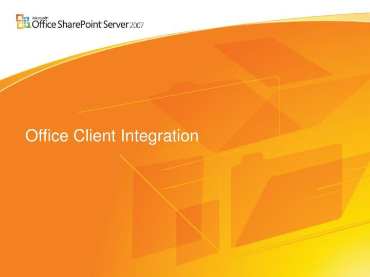 Office Client Integration