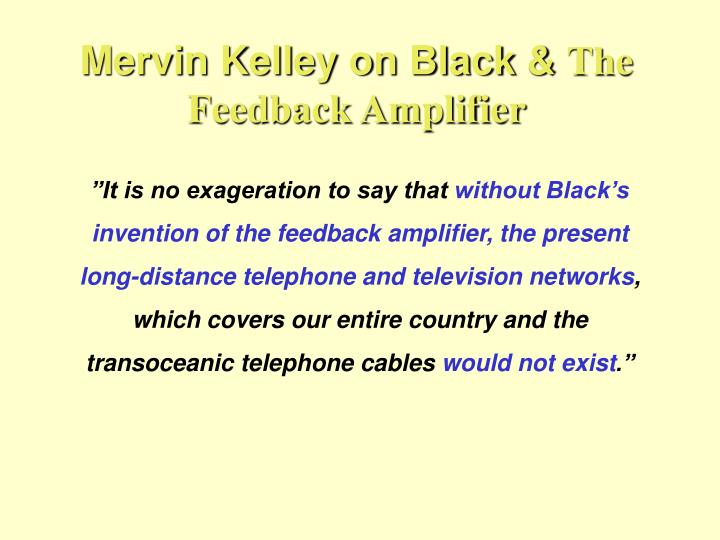 Mervin Kelley on Black