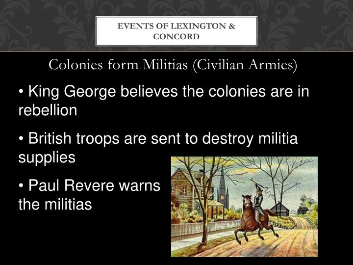 Events of Lexington & Concord