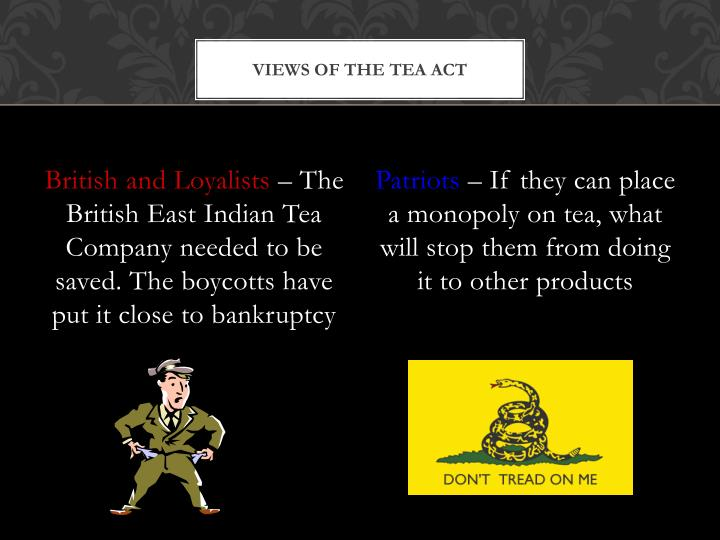Views of the Tea Act